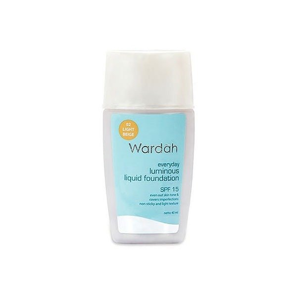Wardah Everyday Luminous Liquid Foundation 02 40 ml