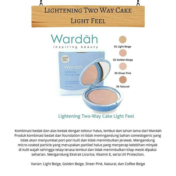 Wardah Lightening Two Way Cake Light Feel 02 12 gr. Dynamic Featured Image Dynamic Featured