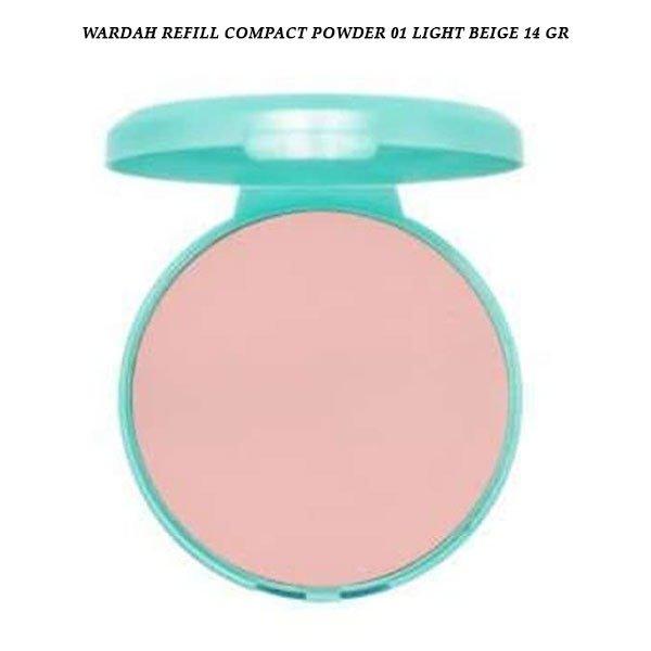 Wardah Refill Compact Powder 01 Light Beige 14 gr