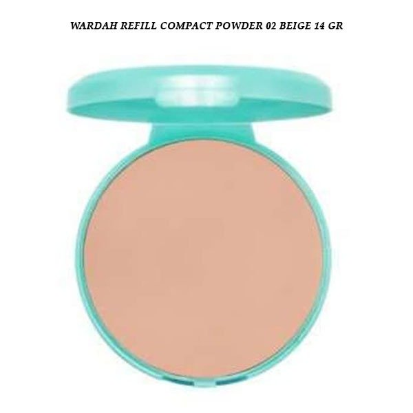 Wardah Refill Compact Powder 02 Beige 14 gr