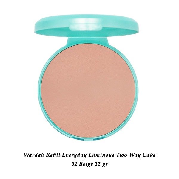 Wardah Refill Everyday Luminous Two Way Cake 02 Beige 12 gr