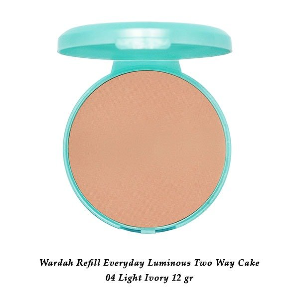 Wardah Refill Everyday Luminous Two Way Cake 04 Light Ivory 12 gr