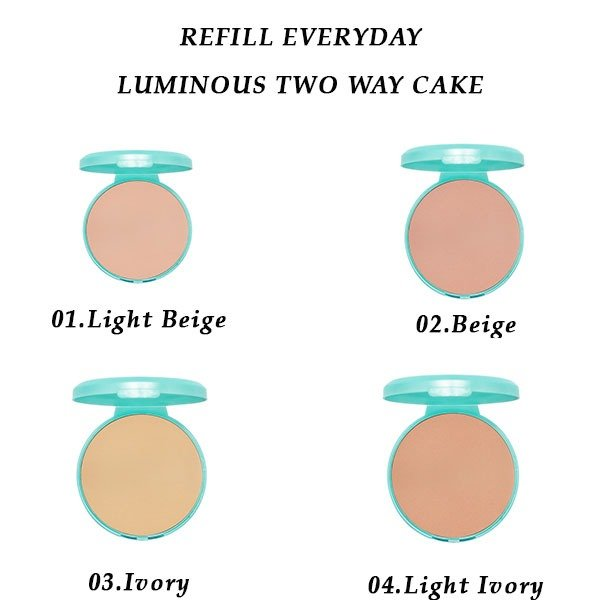 Wardah Refill Everyday Luminous Two Way Cake 01 Light Beige 12 gr. Dynamic Featured Image