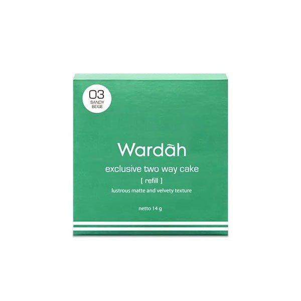 Wardah Refill Exclusive Two Way Cake 03 Sandy Beige 12 gr