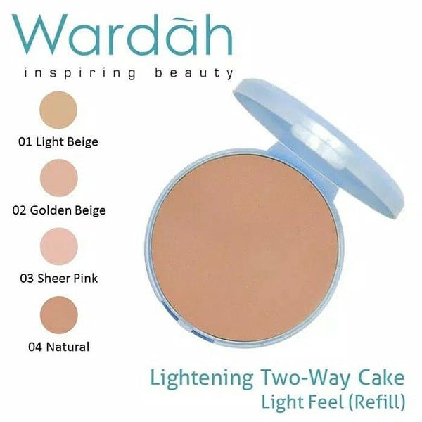 Wardah Refill Lightening Two Way Cake (TWC) Light Feel